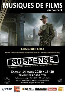 """""""Suspense"""" Concert de musiques de films avec le Ciné-Trio @ Temple de Port Royal"""