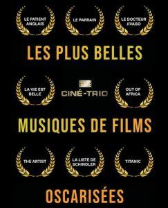 """Concert """"Musiques de films oscarisées"""" par le Ciné-Trio @ THEATRE GALLI SANARY SUR MER"""